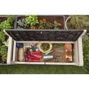 Plastic Garden Storage Bench Seat by Keter Eden Outdoor Resin Storage Bench All Weather Plastic