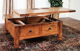 2017 popular rustic square coffee table with storage