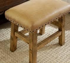 Caden Leather Stool Pottery Barn Seating Pinterest