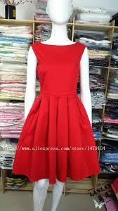 lanlan red black audrey hepburn style 50s rockabilly dress 2016