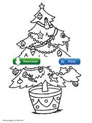 Printable Christmas Tree Coloring Page Download It