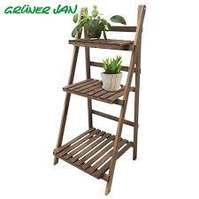 tannenholz pflanzentreppe 99cm klappbar blumenständer badezimmer handtuch regal 1a handelsagentur