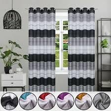 gestreifte moderne gardinen vorhänge fürs wohnzimmer