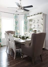 Aqua Blue Teal Green Farmhouse Christmas Table Hutch Decoration Ideas