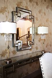 home goods mirrors Dining Room Contemporary with brass console
