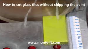 how to cut glass tiles without chipping the paint youtube