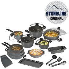 batterie cuisine en set de 20 pieces en stoneline achat vente batterie de