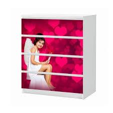 set möbelaufkleber für ikea kommode malm 4 fächer schubladen liebe cupido herz bogen pfeile schlafzimmer engel aufkleber möbelfolie sticker ohne