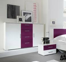 sideboard 132cm weiß lila anrichte modern schlafzimmer kommode