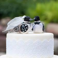 SALE Minnesota Loon Wedding Cake Topper Polka Dotty Bride And Groom Love Bird LoveNesting Toppers