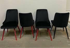 4 x esszimmerstühle samt im karo design schwarz esszimmer stühle