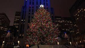 Rockefeller Plaza Christmas Tree by Rockefeller Center Christmas Tree Lit In Star Studded Ceremony