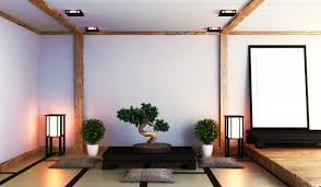 japanisches wohnzimmer mit le premium foto