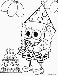 Spongebob Squarepants Color Page Cartoon Pages Printable