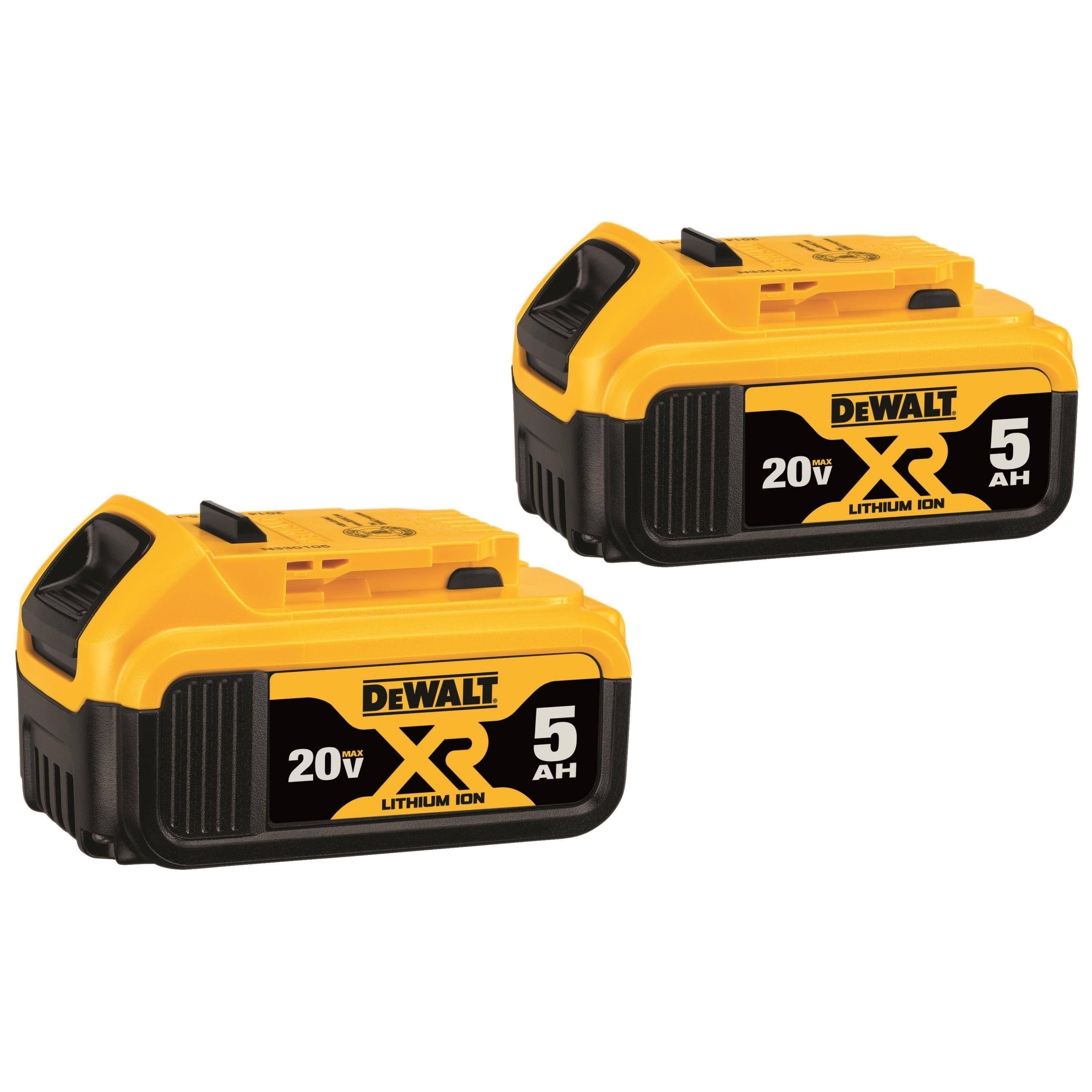 Dewalt 20 Volt Lithium Power Tool Batteries - 2pk