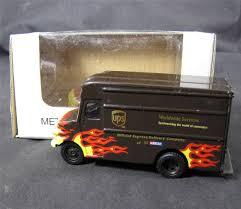 UPS METAL FLAME PACKAGE CAR Die-Cast Delivery Truck, NIB NASCAR DALE ...