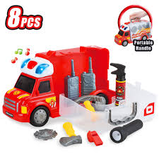 100 Toy Fire Truck BestChoiceProducts Best Choice Products 8Piece Kids Portable