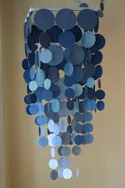 2014 Diy Blue Ombre Wax Paper Chandelier For Holiday