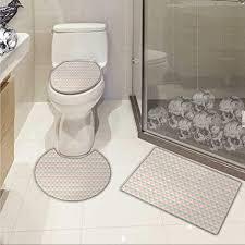 de shabby chic badezimmer und toilettenvorleger set