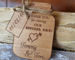 Thank You Wedding Favor Magnet Wooden Unique Cards Rustic