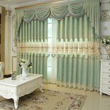 2018 new arrival chenille western curtain jacquard weave window