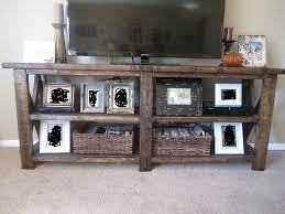 Rustic Tv Console Table X Stand