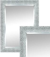 len fra elise wall mirror modern silver 83 x 63 cm stylish frame mirror with facet cut