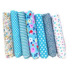 tissus pour rideaux pas cher hoomall 7 pcs imprimé bleu coton tissu de bricolage à la