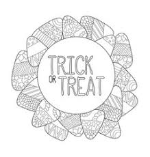 Candy Corn Coloring Page Trick Or Treat Vector Image