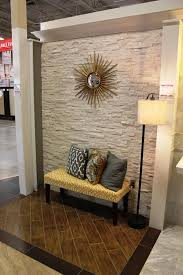 Foyer Accent Wall Ideas Stacked Stone Winsome Decoration Dining Table Is Lik On How