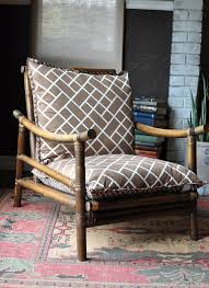 Ficks Reed Lounge Chair by Chinoiserie Rattan Chair Chinese Chippendale Faux Bamboo Rattan