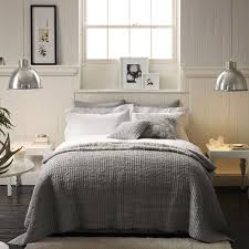Antique Metal Pendant Lamps For Classic Bedroom Decorating Ideas Using Grey Comforter And Chic Side Tables