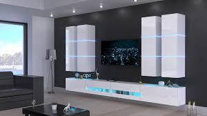 möbel für wohnzimmer weiß hochglanz jurat n51