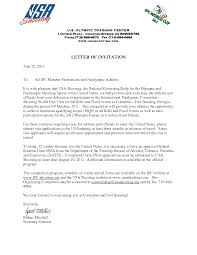 Visitor Invitation Letter To Usa 58 images invitation letter