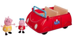 jazwares peppa pig großes rotes auto mit 2 figuren