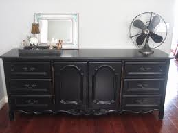 Kent Coffey French Provincial Dresser by French Provincial Dresser Credenza Buffet Black Solid Wood