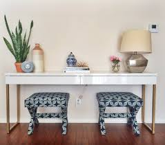 Vanity Table Ikea Hack by To Do It Again To The Legs Of The Besta Burs Desk I Used As An