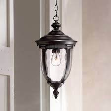bellagio 18 high black outdoor hanging light 49290 ls plus