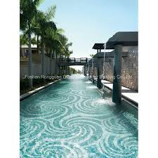 glass tile in pattern for swimming pool mosaic