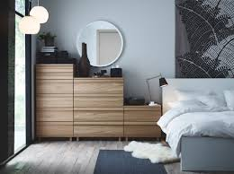 Ikea Aneboda Dresser Recall by A Bedroom With Oppland Chest Of Drawers In Oak A Malm Bed In