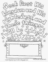 Seek First His Kingdom Matthew 633 Free Kids Coloring Page