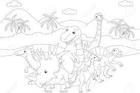 Coloriage Tyrannosaure 4 Coloriages à Imprimer Gratuits