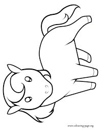 Full Image For Cute Horse Coloring Pages Horses A Little Page Inside