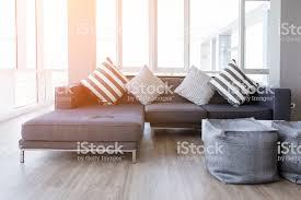 moderne innenausstattung des wohnzimmer mit teilsofa stockfoto und mehr bilder architektur