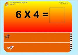 des pour apprendre les tables de multiplication le de