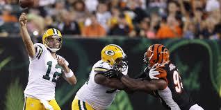Green Bay Packers Pumpkin Carving Ideas by Nfl Week 3 First Look Cincinnati Bengals At Green Bay Packers