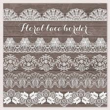Lace Border Rustic Wedding Invitation Frame Clipart White Shabby Chic Vintage From Designloverstudio