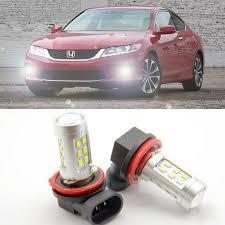 2x bright error free h8 h11 led projector fog light bulb for honda
