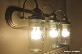 Marvellous Rustic Bathroom Lighting Ideas Design Light Fixture Upcycling