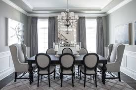 Dining Room Elegant Photo In Other With Gray Walls And Dark Hardwood Floors